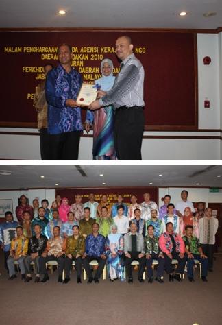 Penghargaan Kepada Agensi Kerajaan Dan Ngo Daerah Sandakan Tahun 2010